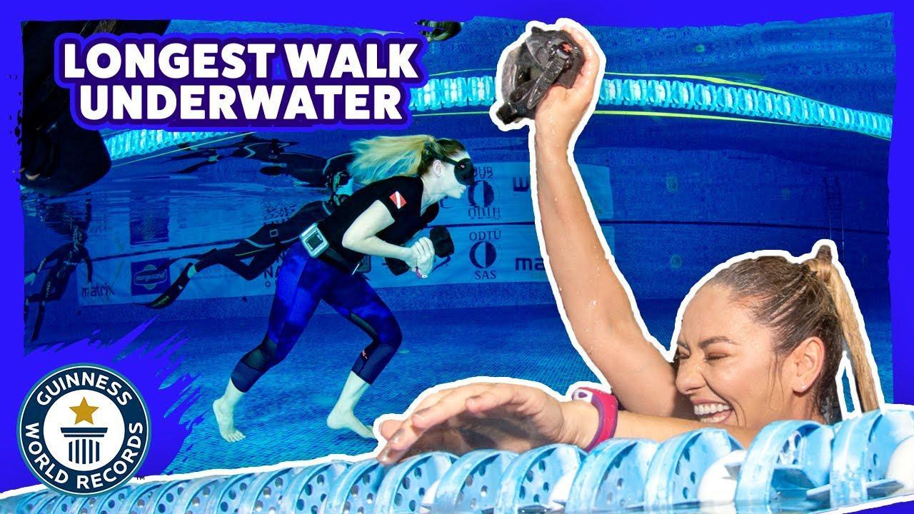 Tek Nefesle Su Altında En uzun Yürüyüş -Guinness Dünya Rekoru Bilge Çingigiray