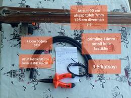 Primline 14 mm lastik ve 7 mm şiş kombinasyonu