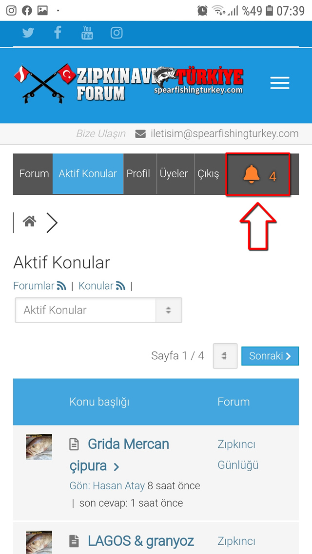 Zıpkın Avı Türkiye Forum Bildirimleri 1
