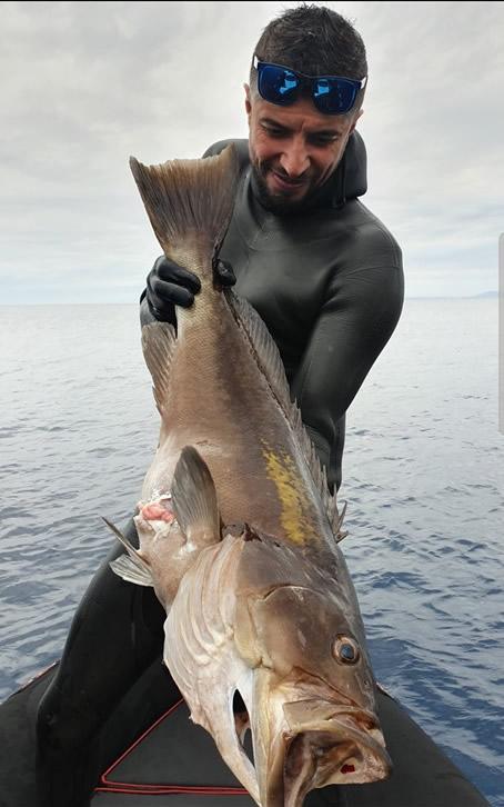 zıpkınla balık avı trofe grida